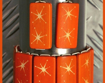 Atomic stars orange bamboo set