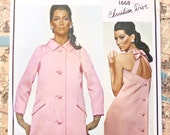 Vintage 1960s Christian Dior Womens Evening Dress and Coat Pattern - Vogue 1668