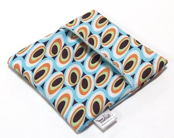 Cloth Menstrual Pad Wrapper - waterproof PUL lining and quilter's cotton outer - 4.5 x 4.5 inches - Modern Dots