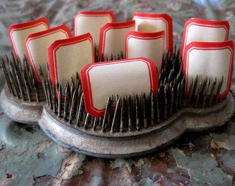 12X Vintage Small Dennison Gummed Labels