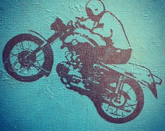 vintage book cover motorcycle nursery photograph 8x8