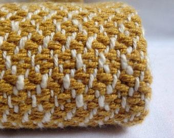 Mustard Yellow Throw Woven Blanket