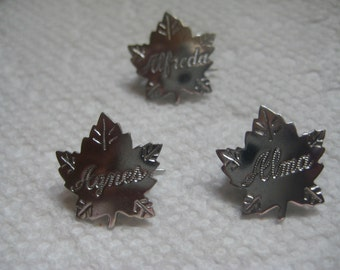 Liberty Silver Maple Leaf Name Pins Letter A