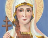 Saint Tatiana of Rome, Virgin, Marytr 11 X 14 Print on 110lb Card Stock from my original Acrylic Painting, Catholic Art,