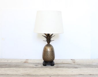 Glam Brass Pineapple Base Lamp