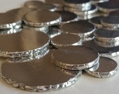 Pewter Coins - Qty 5, stamping blanks, rustic disc, metal blank, disk, Bopper, stamping supplies, hand stamping blanks, silver substitute