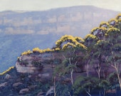 LANDSCAPE Oil PAINTING Original Painting Blue Mountains by Graham Gercken