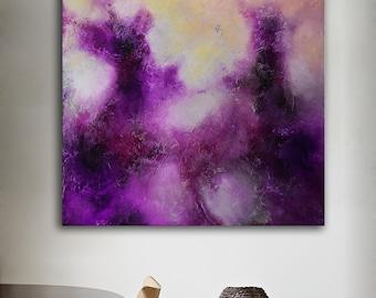 Abstract art Original violet purple painting Large Abstract Painting Original acrylic pink black Painting wall art fine art decor