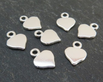 Sterling Silver Heart Charm 9mm (CG5617)