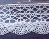 Czech Republic 2 Yards 100% Cotton Woven Lace Crochet Edging Trim 32mm Wide White 1-1/4 Inch Wide  CZ-02