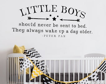 Boy Room Decor | Little boys should never be sent to bed | Baby Shower | Nursery Wall Art | Nursery Decal