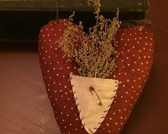 Primitive Heart with pocket