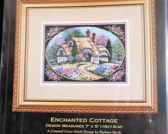 NEW Counted Cross Stitch KIT Enchanted Cottage Gold Collection Petites