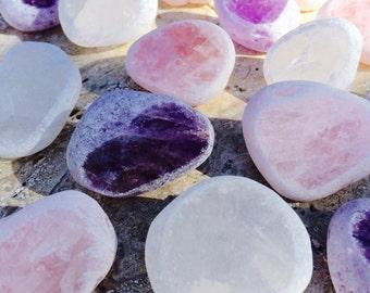 Seer Stones, Windows, Dreamer Crystals . Rose Quartz