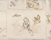 46cm Japanese Cotton Fabric Canvas Dumbo Alice Pinocchio Thumper Tinker Bell