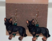 German Shepherd Earrings, Pet Earrings, Dog Earrings, Dog Jewelry, German Shepherd Jewelry, Dog Breed Jewelry