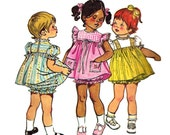 Child's Dress Pattern Smock Bloomers 1970s Sewing Simplicity Children's Vintage Girl's Toddler Size 3