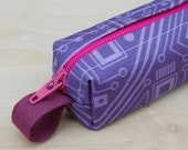 Short Circuit Bitty Bag (petite pencil or makeup case)