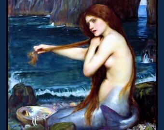 Mermaid Combing Hair Refrigerator Magnet