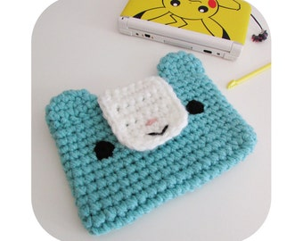 INSTANT DOWNLOAD - Kawaii funny bear 3ds xl case sleeve - PDF crochet pattern