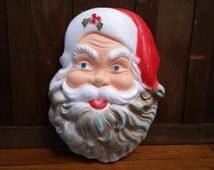 Vintage Styrofoam Vacucel Santa Head