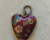 Cloisonne apple pendant