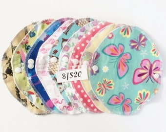 Cotton thin & light cloth panty liner, reusable cloth pads, period pads, wipes, cloth pantyliners, cloth pads, panty liners, cloth pad