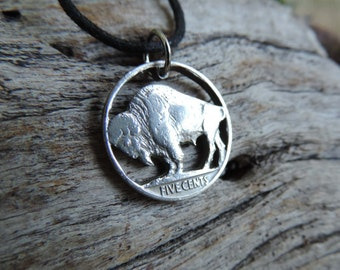 Buffalo Nickel Coin Pendant Necklace