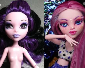 OOAK reroot repaint Monster High Elissabat custom CORNELIA THISTLE Laurie Lenz