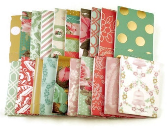 Set of 20 Matchbook Notepads Mini Note Pads in Afternoon Tea