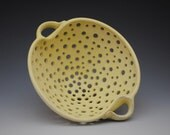 Yellow Colander or Fruit Bowl