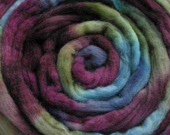 100g Space-Dyed Merino D' Arles Wool Top - Lichen on Stone