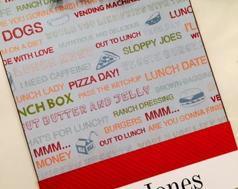 Personalized Lunch Lady Teacher Clipboard Free Monogramming Organization Planner