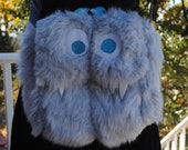 Medium Nomnom Monster Furry Messenger bag --Aleksander