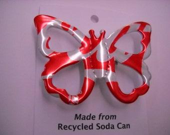 Butterfly Coke Magnet Pin Brooch Recycled Soda Can Coke