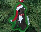 Pit bull Christmas Ornament  // Pitbull Decoration