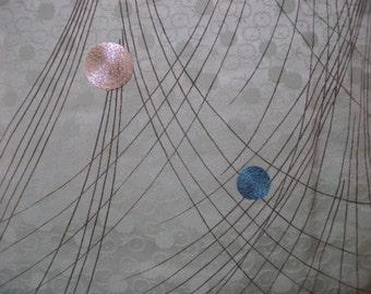Vintage kimono S50, rinzu,
