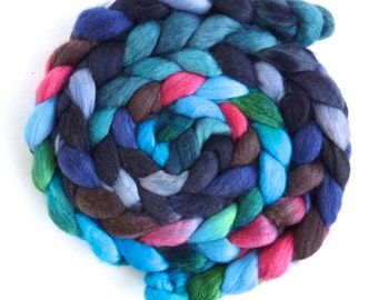 Polwarth/Silk Roving - Handpainted Spinning or Felting Fiber, Heads This Time
