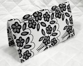 CUSTOM MADE to Order Checkbook Cover Coupon Organizer Black and Gray Floral Mystique