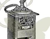 Coffee Grinder Digital Vintage Illustration Image Transfer Image Download Printable Graphic Clip Art 304