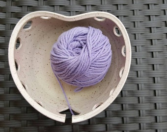 SALE - Heart Yarn Bowl