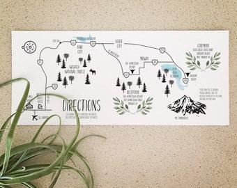 A La Carte Wedding Elements: Custom Illustrated Map Enclosure