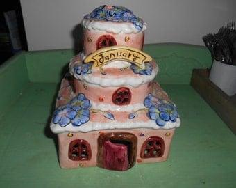Vintage Porcelain JANUARY House decoration