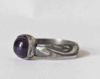 Amethyst Ring - Size 8 - February Birthstone - February Birthday - Amethyst Jewelry