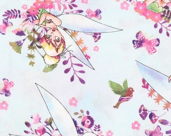 Tinkerbell Watercolor  Fabric By The Yard FBTY