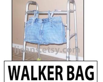 Recycled Denim Blue Jean Walker Bag