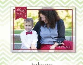 Holiday Tag - Holiday Photo Card - PRINTABLE