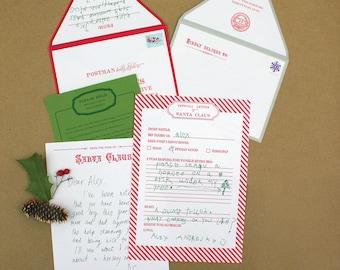 Santa Claus Letter Writing Kit - Letterpress