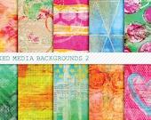 Mixed Up 2 Digital Papers for Art Journaling, Mixed Media & Digital Scrapbooking