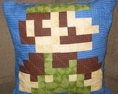 Luigi Quilted Pillow Cover - Free Shipping